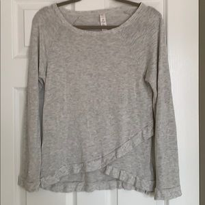Lightweight sweatshirt with split hem detail